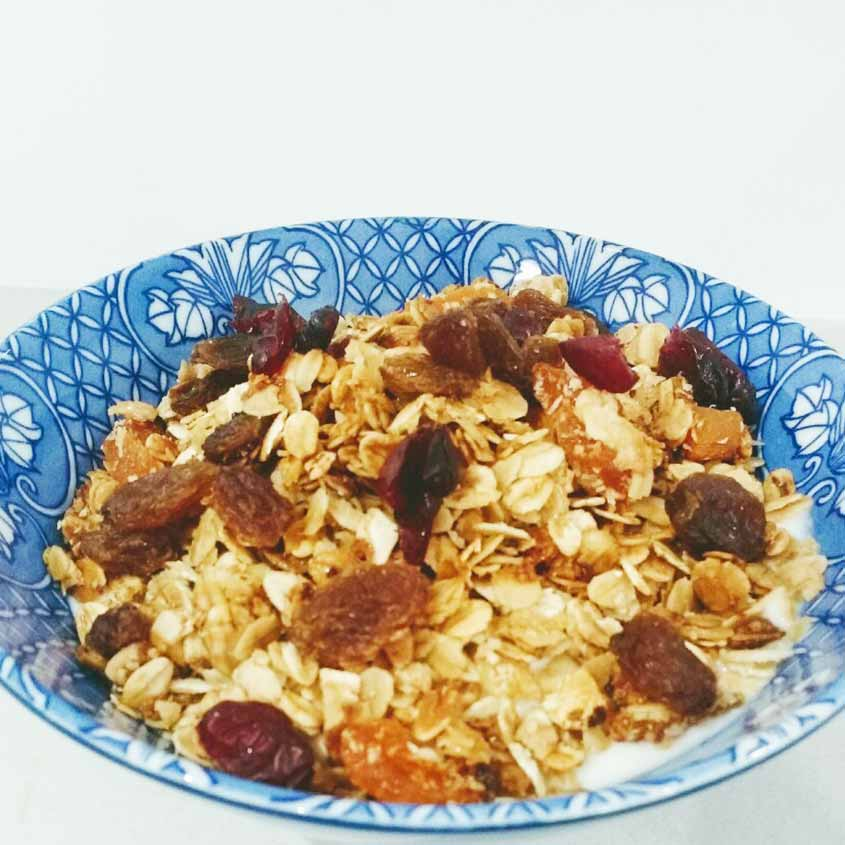 Toasted Muesli with Coconut, Apricot, Sultanas and Cranberries